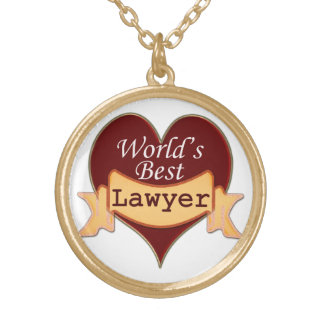 World's Best Lawyer Gold Plated Necklace