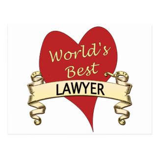 World's Best Lawyer Postcard