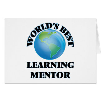 World's Best Learning Mentor Stationery Note Card