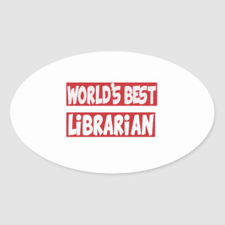 World's Best Librarian. Stickers