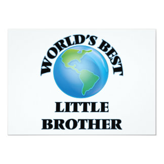 World's Best little Brother 5x7 Paper Invitation Card