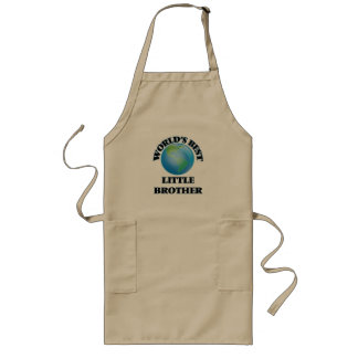 World's Best little Brother Long Apron