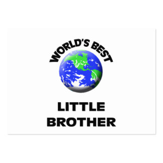 World's Best Little Brother Large Business Cards (Pack Of 100)