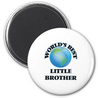 World's Best little Brother 2 Inch Round Magnet