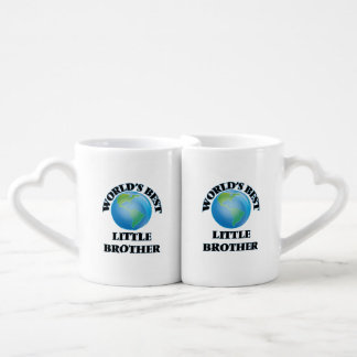 World's Best little Brother Couples' Coffee Mug Set