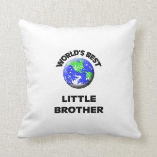 World's Best Little Brother Throw Pillows