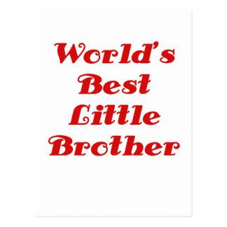 Worlds Best Little Brother Postcard