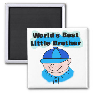 World's Best Little Brother Tshirts and Gifts 2 Inch Square Magnet