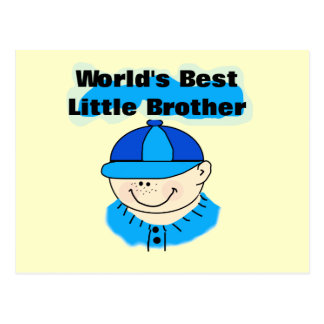 World's Best Little Brother Tshirts and Gifts Postcard