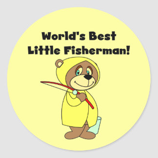 World's Best Little Fisherman Tshirts and Gifts Classic Round Sticker