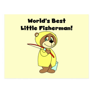 World's Best Little Fisherman Tshirts and Gifts Postcard