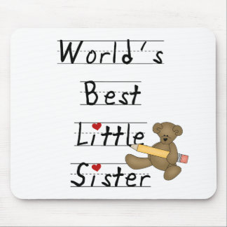 World's Best Little Sister Mouse Pad