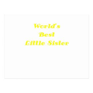 Worlds Best Little Sister Postcard