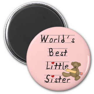 World's Best Little Sister Tshirts and Gifts Refrigerator Magnets