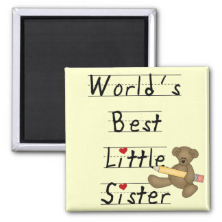 World's Best Little Sister Tshirts and Gifts Fridge Magnets
