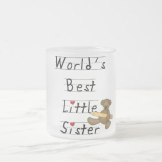 World's Best Little Sister Tshirts and Gifts 10 Oz Frosted Glass Coffee Mug