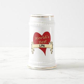World's Best LPN Beer Stein