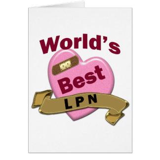 World's Best LPN Card
