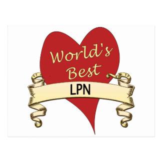 World's Best LPN Postcard