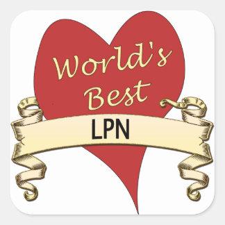 World's Best LPN Square Sticker
