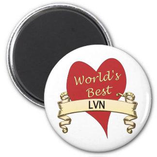 World's Best LVN 2 Inch Round Magnet