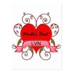 World's Best LVN Postcard