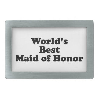 World's Best Maid of Honor Belt Buckle