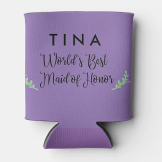 World's Best Maid of Honor Personalized Can Cooler