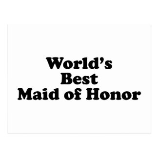 World's Best Maid of Honor Postcard