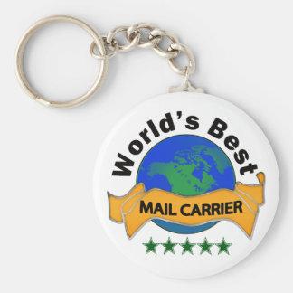 World's Best Mail Carrier Basic Round Button Keychain