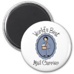 World's Best Mail Carrier Female Gifts and Tees Magnet