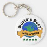 World's Best Mail Carrier Keychains