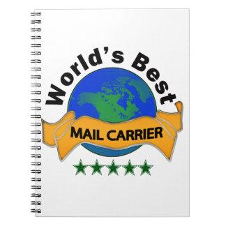 World's Best Mail Carrier Notebook