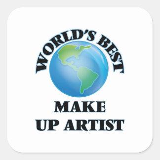 World's Best Make Up Artist Square Sticker