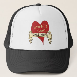 World's Best Male Nurse Trucker Hat