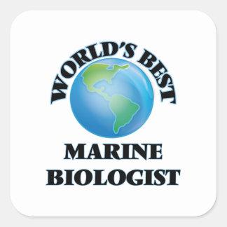 World's Best Marine Biologist Square Sticker
