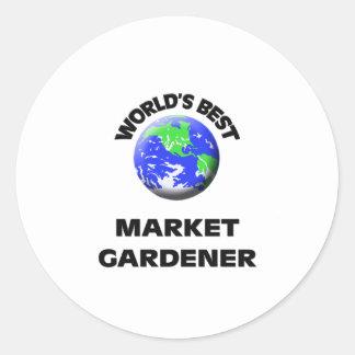World's Best Market Gardener Sticker