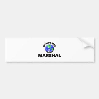 World's Best Marshal Bumper Stickers