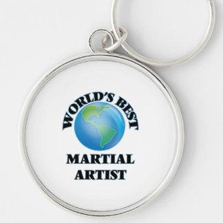 World's Best Martial Artist Silver-Colored Round Keychain