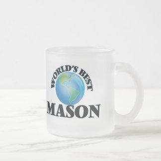 World's Best Mason 10 Oz Frosted Glass Coffee Mug