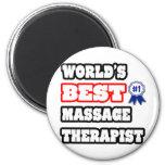 World's Best Massage Therapist Refrigerator Magnets