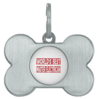 World's Best Master Electrician. Pet Name Tags