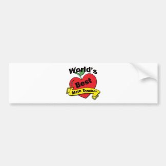 World's Best Math Teacher Bumper Sticker
