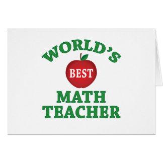World's Best Math Teacher Card