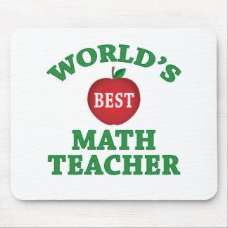 World's Best Math Teacher Mouse Pad