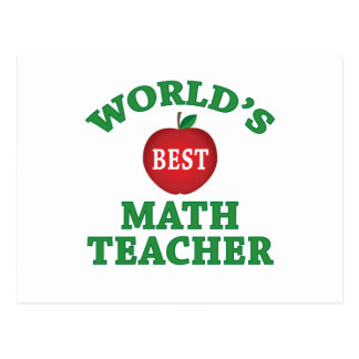 World's Best Math Teacher Postcard