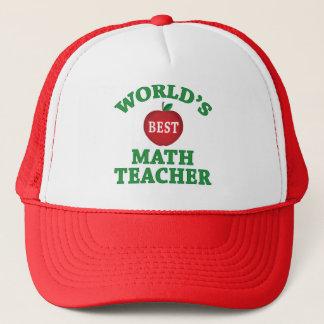 World's Best Math Teacher Trucker Hat