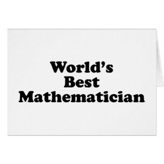 World's Best mathematician Card