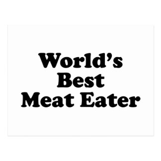World's Best Meat Eater Post Card