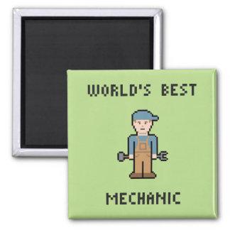 World's Best Mechanic 2 Inch Square Magnet